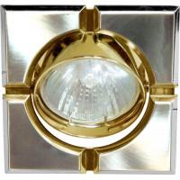 Светильник встраиваемый 098T-MR16-S потолочный MR16 G5.3 титан-золото