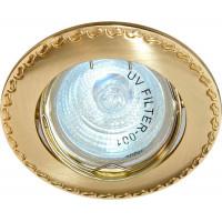 Светильник встраиваемый 125T-MR16 потолочный MR16 G5.3 матовое золото-золото