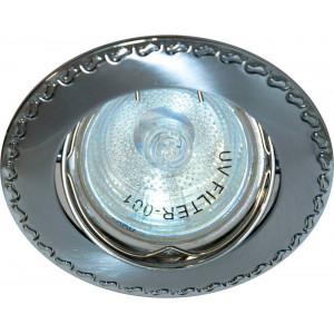 Светильник встраиваемый 125T-MR16 потолочный MR16 G5.3 матовый хром-хром