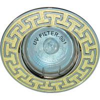 Светильник встраиваемый 2008DL потолочный MR16 G5.3 золото-титан