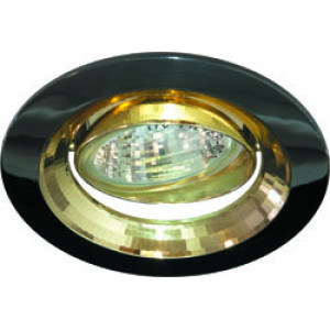 Светильник встраиваемый 2009DL потолочный MR16 G5.3 черный металлик-золото