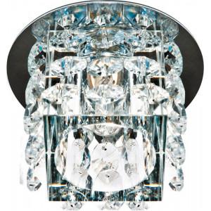 Светильник встраиваемый JD58 потолочный JCD9 G9 прозрачный, хром