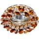 Светильник встраиваемый CD4141 потолочный MR16 G5.3 коричневый, золотистый