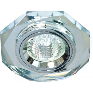 Светильник встраиваемый 8020-2 потолочный MR16 G5.3 серебристый
