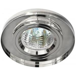 Светильник встраиваемый 8060-2 потолочный MR16 G5.3 серебристый