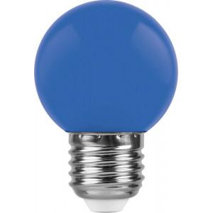 Лампа светодиодная LB-37 Шарик E27 1W Синий