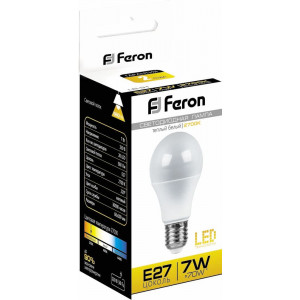 Лампа светодиодная LB-91 Шар E27 7W 6400K