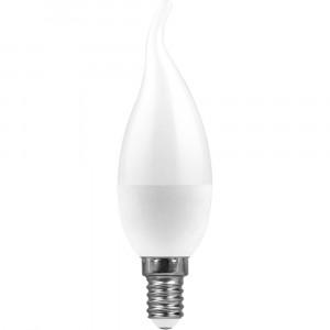 Светодиодная лампа LED - Свеча на ветру - standard 7.5Вт 160-260В Е14 4000К Холодный свет