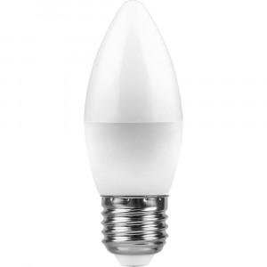 Светодиодная лампа LED-C37 7,5Вт 220В Е27 4000К 600Лм Холодный свет