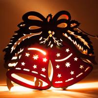 Деревянная световая фигура, 1 лампа накаливания, цвет свечения: теплый белый, 30*5*25cm, шнур 1,4 м, IP20, LT069