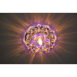 Светильник встраиваемый светодиодный 1550 потолочный 10W 3000K прозрачный