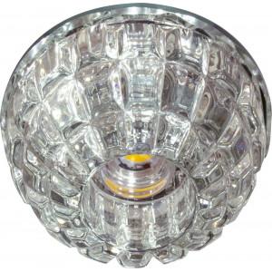 Светильник встраиваемый светодиодный JD68 потолочный 10W 3000K прозрачный