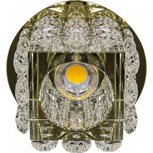 Светильник встраиваемый светодиодный JD58 потолочный 10W 3000K прозрачно-золотистый