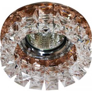 Светильник встраиваемый CD2929 потолочный MR16 G5.3 коричневый-прозрачный