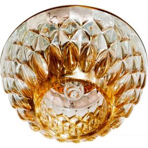 Светильник встраиваемый JD187 потолочный JCD9 G9 прозрачно-золотистый