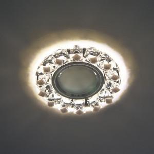 Светильник встраиваемый с белой LED подсветкой CD7570 потолочный MR16 G5.3 прозрачно-белый