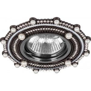 Светильник встраиваемый CD2051 потолочный MR16 G5.3 черный-хром