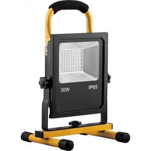 Светодиодный прожектор LL-913 переносной с зарядным устройством IP65 30W 6400K
