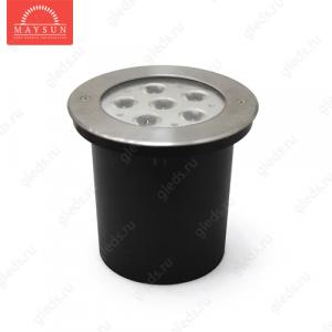 Грунтовый светодиодный светильник B2AE0606R DC24V 19.5W 30 'IP67 d165*H53 RGB (3 in 1)