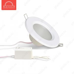 Светодиодный точечный светильник TH-100-5W Универсальный белый d100 мм (Белый корпус)-400lm