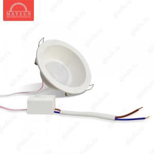 Светодиодный точечный светильник TH-105-6W Универсальный белый d105 мм (Белый корпус)-360lm (B-06-R)