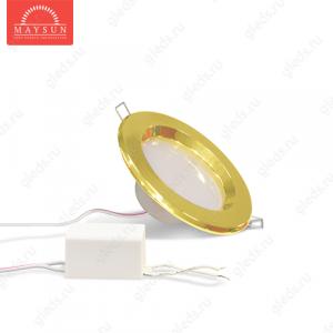 Светодиодный точечный светильник TH-75-5W Теплый белый d75 мм (Золото корпус)