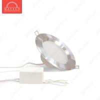 Светодиодный точечный светильник TH-75-5W Теплый белый d75 мм (Хром корпус)