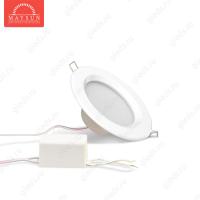 Светодиодный точечный светильник TH-75-5W Теплый белый d75 мм (Белый корпус)