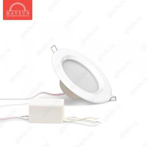 Светодиодный точечный светильник TH-75-5W Универсальный белый d75 мм (Белый корпус)