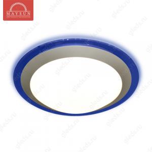Накладной светодиодный светильник ALR-25 AC170-265V 25W d430мм*H90мм Холодный белый 2400lm (Синий корпус)