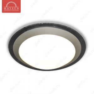 Накладной светодиодный светильник ALR-25 AC170-265V 25W d430мм*H90мм Холодный белый 2400lm (Серый корпус)