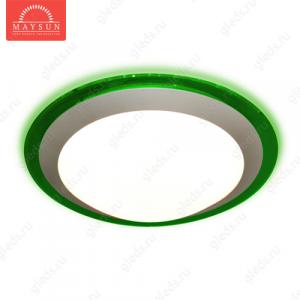 Накладной светодиодный светильник ALR-25 AC170-265V 25W d430мм*H90мм Холодный белый 2400lm (Зеленый корпус)