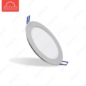 Светодиодный встраиваемый ультратонкий светильник DL-11 AC220V 10W Холодный белый 800lm (Серебро корпус)