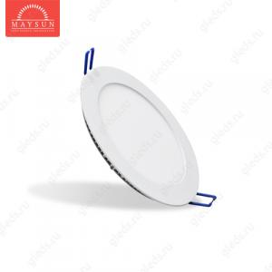 Светодиодный встраиваемый ультратонкий светильник DL-11 AC220V 10W Холодный белый 800lm (Белый корпус)