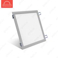 Светодиодный встраиваемый ультратонкий светильник DL-18-300х300 AC220V 18W Теплый белый 1300lm (Серебро корпус)