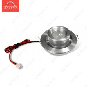 Светодиодный светильник LightLine LBE-020 DC3.4V 3W 700mA d60*H31 (d50) mm Теплый белый (B-02-R)-150lm