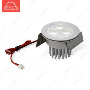 Светодиодный светильник LightLine LBE-071 DC9V 9W 650mA/AC180-240V IP20 d68*H49 (d64) mm Теплый белый+адаптер
