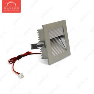 Светодиодный светильник LightLine LBE-077 DC3.4V 3W 700mA IP20 (90*90)*H37 mm Красный (A-03-L) (B-02-R)