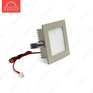Светодиодный светильник LightLine LBE-078 DC3.2V 1,2W 350mA IP20 (90*90)*H37 mm Синий