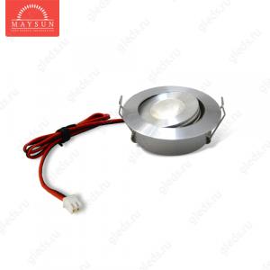 Светодиодный светильник LightLine LBE-201/E-22 DC3.4V 3W 700mA IP20 d50*H23 mm Теплый белый ( угол 15')-150lm