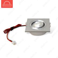 Светодиодный светильник LightLine LBE-202/WH DC3.4V 3W 700mA IP20 (60*60)*H23 mm Теплый белый (B-02-R)-150lm