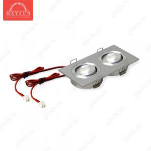 Светодиодный светильник LightLine LBE-2022/WH DC3.2V 2W 350mA IP20 (110*60)*H23 mm Теплый белый (B-02-R)-300lm