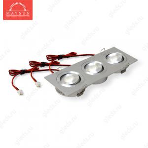 Светодиодный светильник LightLine LBE-2023/WH DC11V 9W 700mA IP20 (164*60)*H23 mm Теплый белый (B-02-R)-450lm