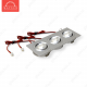 Светодиодный светильник LightLine LBE-2023/WH DC11V 9W 700mA IP20 (110*60)*H23 mm Холодный белый (B-02-R)-540lm
