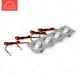 Светодиодный светильник LightLine LBE-2024/CW DC14V 12W 700mA IP20 (216*60)*H23 mm Теплый белый (A-03-R)-600lm