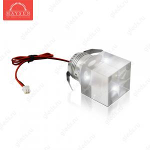 Светодиодный светильник LightLine LBE-601 350mA 1W (38*38)*H62 mm Холодный белый (B-03-R)-180lm