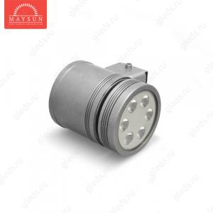 Архитектурный светодиодный светильник MS-6L220V AC110-265V-15W (Холодный белый) Серый корпус