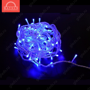 """Светодиодная гирлядна """"Твинкл-лайт"""" PLС-100L-10M-220V-B с контроллером I 100LED AC230V IP44 10м 6W Синий"""