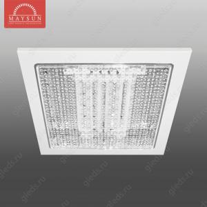 Светильник люминесцентный встраиваемый R-126 прозрачное стекло 26W A217*H50 (175*175) 3500К (A-02-R) (D-10-R)