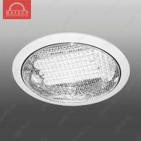 Светильник люминесцентный встраиваемый R-213 прозрачное стекло 13W d188*H50 (d160) 3500К (A-03-R) RC-1